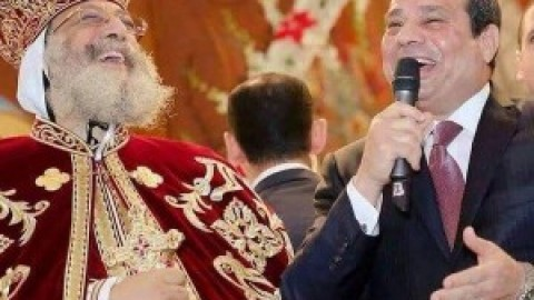 زيارة الرئيس السيسي للكاتدرائية  يناير ٢٠١٦ / La visite du président El-Sisi à la Cathédrale Copte Janvier 2016